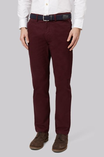 Moss 1851 Tailored Fit Claret Chino