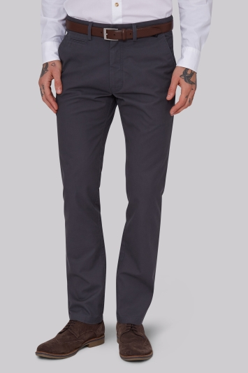Moss 1851 Tailored Fit Slate Grey Chino