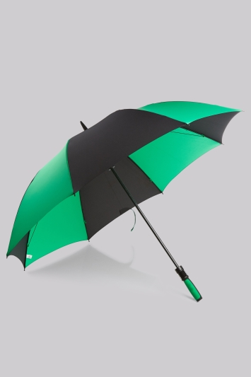Fulton Green and Black Performace 'Cyclone' Umbrella