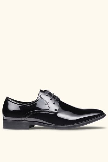 Moss London Black Patent Dress Shoe