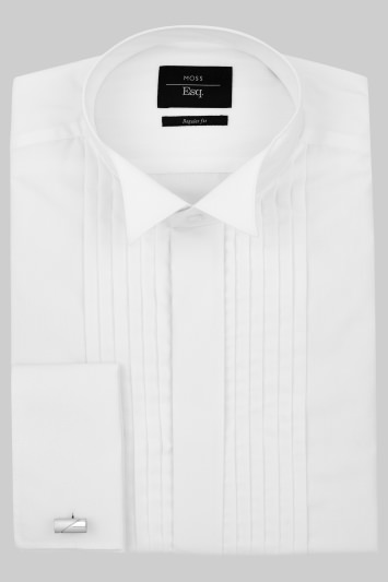 Moss Esq. Regular Fit White Wing Collar Dress Shirt