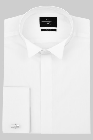 Moss Esq. Regular Fit Double Cuff Wing Collar Dress Shirt