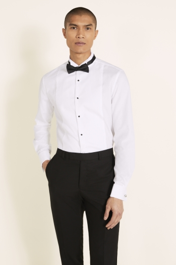 Moss 1851 Marcella Regular Collar Slim Fit Dress Shirt