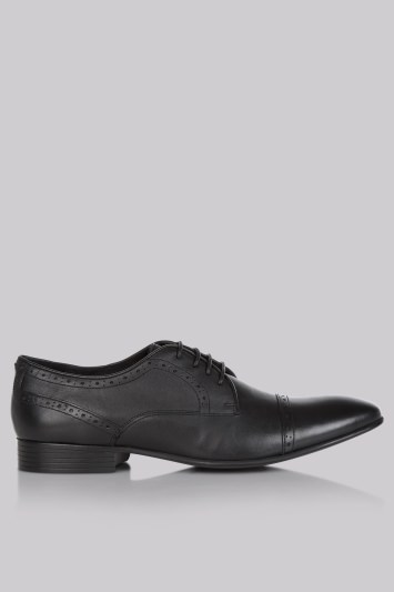 Moss London Black Textured Shoes