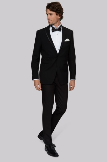 Moss 1851 Tailored Fit Black Notch Lapel Tuxedo Jacket