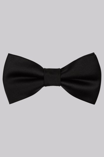 Moss London Black Skinny Bow Tie