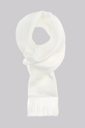 Moss 1851 White Silk Dress Scarf