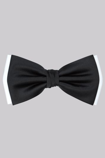 Moss 1851 Black and White Contrast Bow Tie