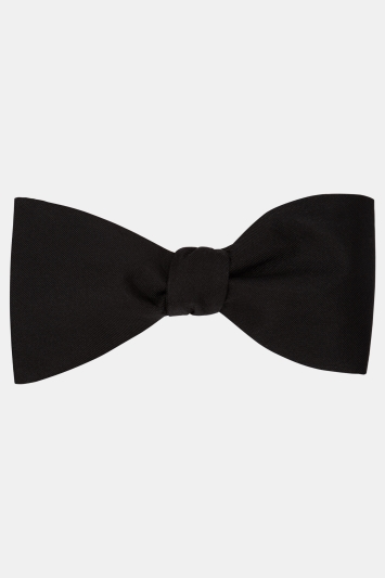 Moss 1851 Black Silk Self-Tie Bow Tie