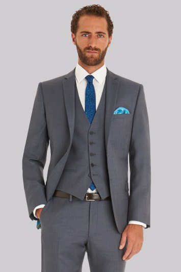 4355d8b46e67a Ted Baker Tailored Fit Steel Grey Jacket