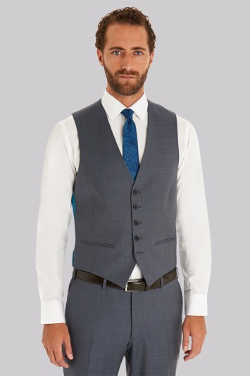 2901b1d1e2eda Ted Baker Tailored Fit Steel Grey Waistcoat