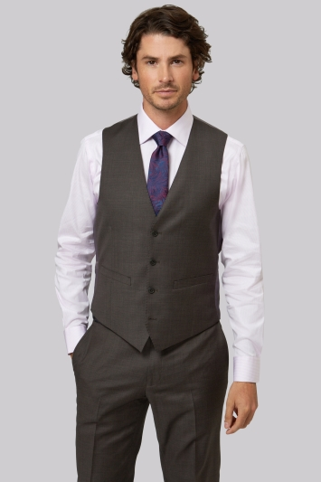 Moss 1851 Tailored Fit Brown Waistcoat