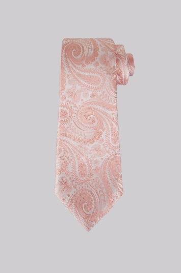Moss 1851 Coral Paisley Silk Tie