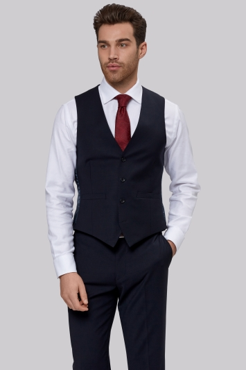 Moss 1851 Performance Tailored Fit Navy Waistcoat