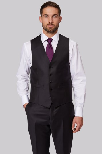 Ermenegildo Zegna Cloth Regular Fit Black Waistcoat