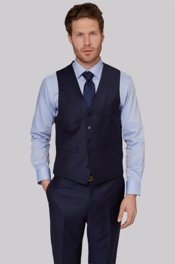 Ermenegildo Zegna Cloth Regular Fit Naples Blue Waistcoat