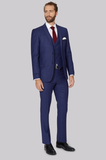 Ted Baker Tailored Fit Blue with Violet Check Suit Jacket