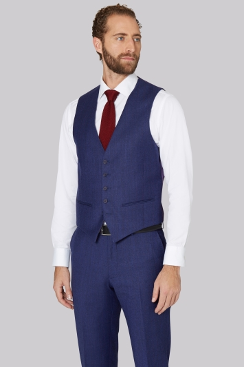 a0a1e17f5d174 Ted Baker Tailored Fit Blue with Violet Check Waistcoat
