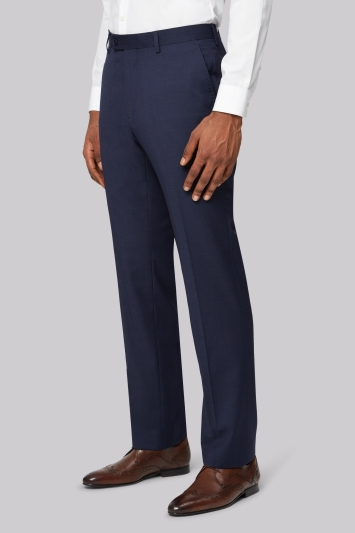 Ted Baker Tailored Fit Blue Pindot Trousers