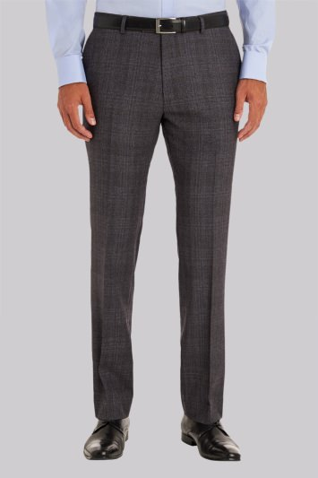 Ted Baker Tailored Fit Grey Check Trousers