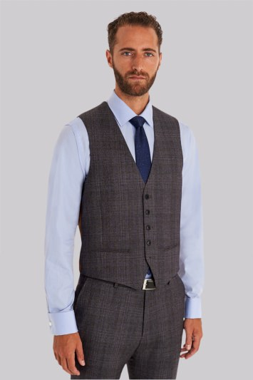 Ted Baker Tailored Fit Grey Check Waistcoat