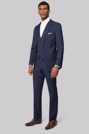 Ted Baker Tailored Fit Blue Pindot Jacket