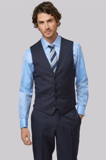 Lanificio F.lli Cerruti Dal 1881 Cloth Tailored Fit New Navy Suit Waistcoat