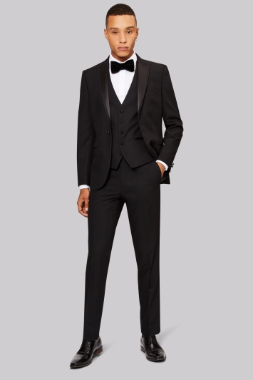 Moss London Skinny Fit Black Tuxedo Jacket