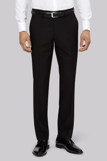 Moss London Slim Fit Black Dress Trousers