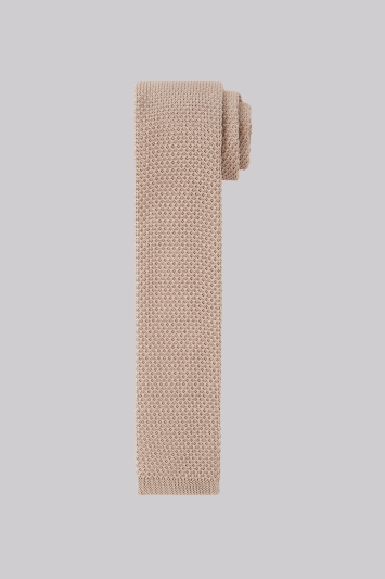 Moss London Stone Knitted Skinny Tie