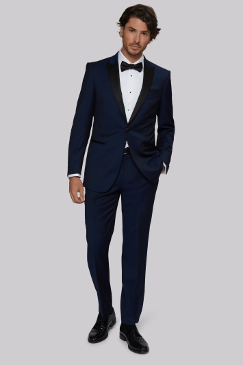 Moss 1851 Tailored Fit Bright Blue Tuxedo