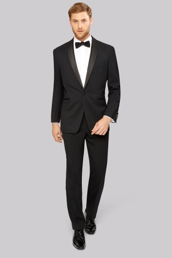 Moss Esq. Black Shawl Lapel Regular Fit Tuxedo Jacket