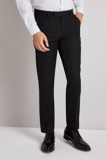 Moss London Skinny Fit Black Trousers