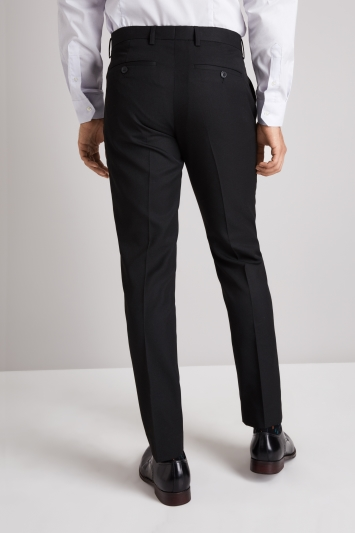 ccb78c9d714 Moss London Skinny Fit Black Twill Trousers