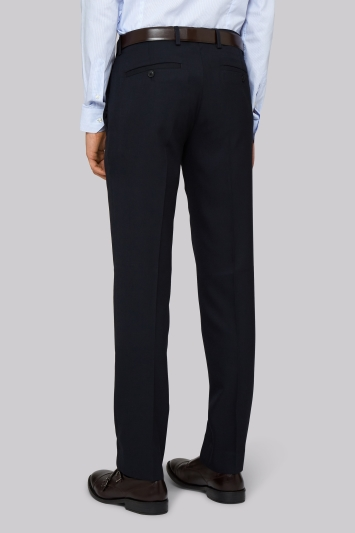 Moss London Skinny Fit Navy Trousers
