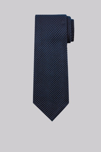 Moss 1851 Navy Knitted Silk Tie