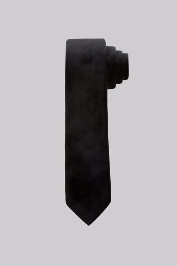 Moss London Black Velvet Skinny Tie