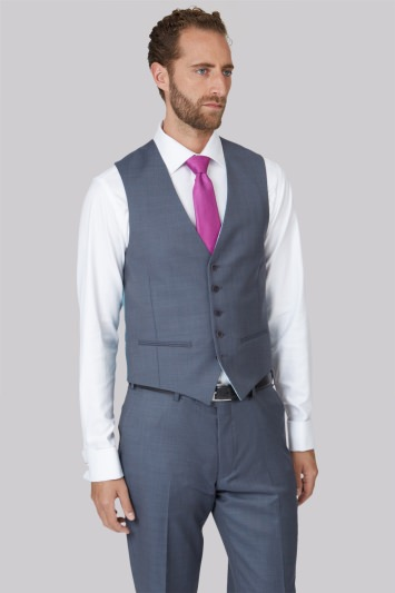 Ted Baker Tailored Fit Steel Grey Waistcoat