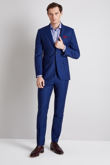 Moss 1851 Performance Tailored Fit Bright Blue Jacket