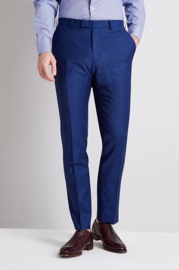 Moss 1851 Performance Tailored Fit Bright Blue Trousers