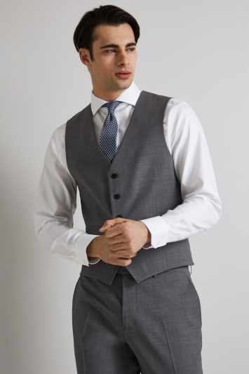 Moss 1851 Performance Tailored Fit Light Grey Waistcoat