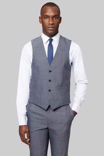 French Connection Slim Fit Light Grey Waistcoat