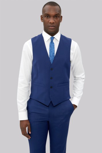 French Connection Slim Fit Bright Blue Waistcoat