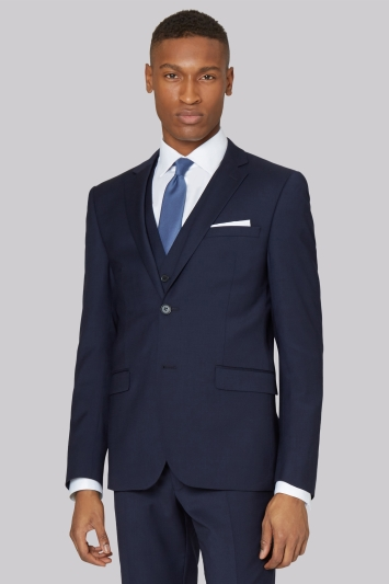 DKNY Slim Fit Panama Blue Jacket