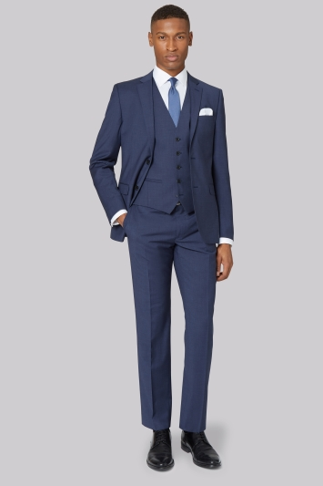 DKNY Slim Fit Blue Marl Jacket