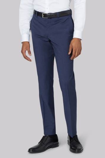 DKNY Slim Fit Blue Marl Trousers