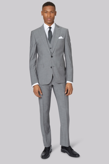 DKNY Slim Fit Light Grey Jacket