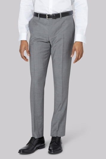 DKNY Slim Fit Light Grey Trousers