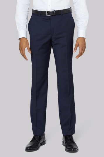 DKNY Slim Fit Panama Blue Trousers