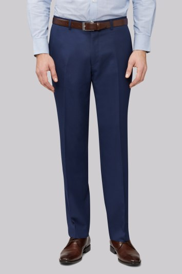 Moss Esq. Regular Fit Bright Blue Trousers